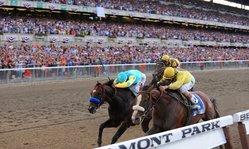 Contenido de la imagen Union Rags wins the 144th Belmont Stakes!