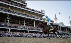 Contenido de la imagen American Pharoah defendió su favoritismo a lo crack en el Kentucky Derby